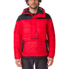 Columbia Lodge Giacca Pullover Uomo, rosso/nero